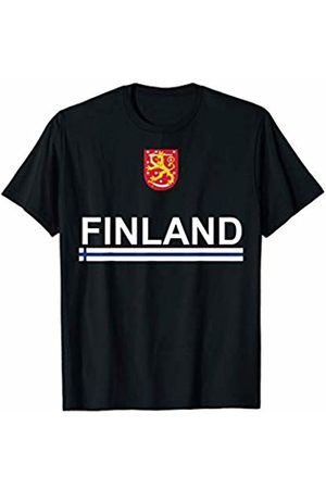 Finland National Pride Designs Finnish Sports-style Flag and Emblem Design T-Shirt