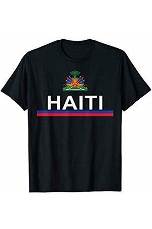 Haiti National Pride Designs Haitian Sports-style Flag and Emblem Design T-Shirt