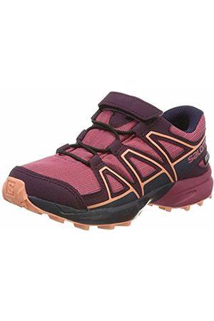Salomon Unisex Kid's Speedcross CSWP K Trail Running Shoes, Malaga/Potent /Desert Flower