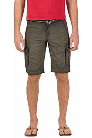 Timezone Men's Loose Maguiretz Cargo Shorts Incl. Belt Leaves 4065