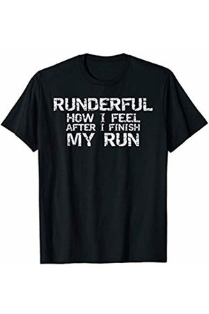 Cute Fitness Workout Design Studio Running Pun Men's Runderful How I Feel After I Finish My Run T-Shirt