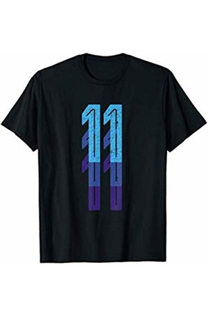 Lucky Birthday Plus Sports Numbers Co. Number 11 Shirt 11th Birthday Gift Sports Team Year Age T-Shirt