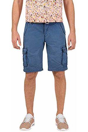 Timezone Men's Loose Maguiretz Cargo Shorts Incl. Belt (Washed Indigo 3411)
