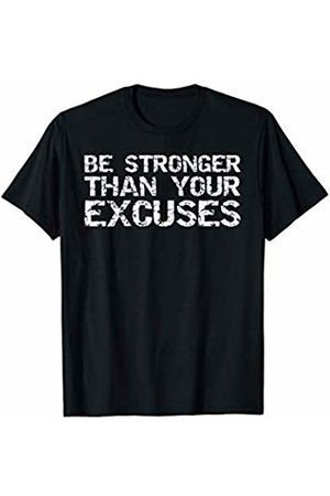 Cute Fitness Workout Design Studio Funny Workout Gift Distressed Be Stronger than Your Excuses T-Shirt