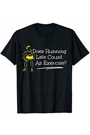 Cross Country Runners Apparel Running Late Funny Running Gift for Runners T-Shirt