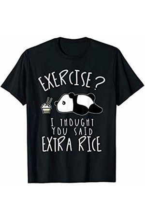Funny Workout Apparel Panda Rice Funny Pun Fitness Workout T-Shirt