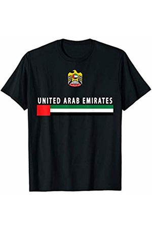 UAE National Pride Designs United Arab Emirates Sports-style Flag and Emblem Design T-Shirt