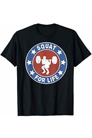 Fitness Fun Tees Squat For Life Weightlifting Workout T-Shirt