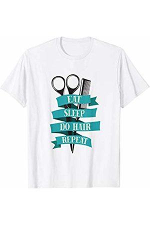 Wonderful Hair Tees Eat Sleep Do Hair Repeat Hairdresser Salon Cut Comb T Shirt