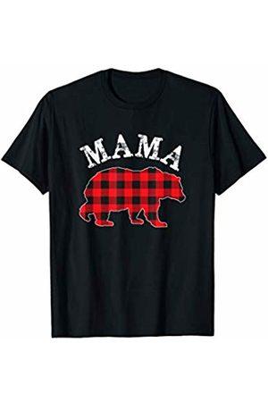 Matching Plaid Family Shirt Co. Red Plaid Mama Bear Matching Buffalo Family Pajama T-Shirt T-Shirt