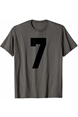 Rec League Team Sports Number T-Shirts # 7 Team Sports Jersey Front & Back Number Player Fan T-Shirt