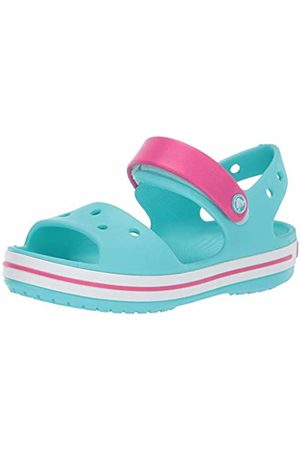 Croc'Odor Crocs Kids' Crocband Sandals, (Pool-Candy )