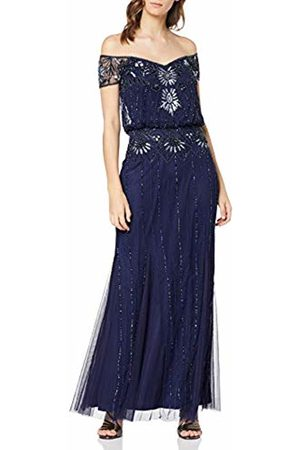 Frock and Frill Women's Carys 2 in 1 Embellished Maxi Dress Party (Medieval #00008b)