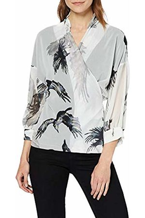 Religion Women's Ombre Shirt Regular Fit V-Neck Long Sleeve Shirt