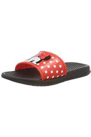 Disney Minnie Mouse Girls Kids Aqua Slippers Open Toe Sandals