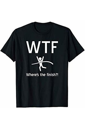 WTF Track and Field Running Tee Co. Funny Running Shirt WTF Where's The Finish Triathlon TShirt T-Shirt