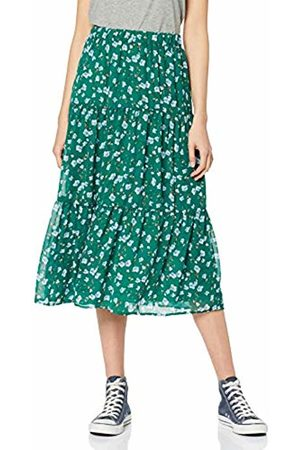 Only Women's Onltake Medi Skirt WVN (Lush Meadow Flower AOP)