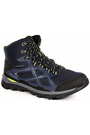 Regatta Men's Kota Mid High Rise Hiking Boots, (NvyBlz/LimeG)