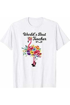 HustlaGirl World's Best Teacher Flamingo T-Shirt