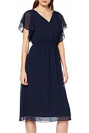 Vila Women's Viflara S/s Dress/dc, Navy Blazer