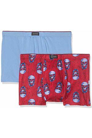Bruno Banani Men's Short 2er Pack Chrome Edition Boxer Shorts, (Rosarot Skull Print//Azur 2643)