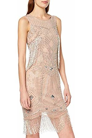 Frock and Frill Women's Gebriele Fringed Flapper Style Mini Dress Party