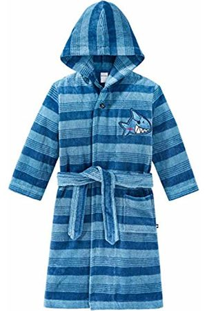 Schiesser Boy's Capt´n Sharky Bademantel Dressing Gown