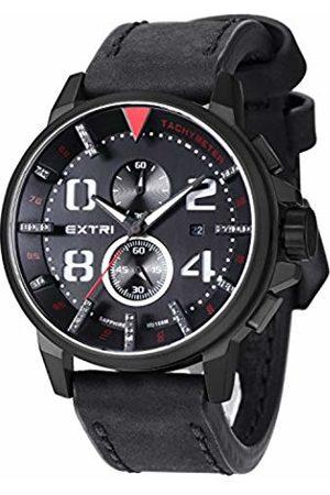 Extri F. Men's Quartz Watch with Chronograph Quartz Leather X3003D