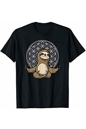 Cute Sloth Yoga Shirts Funny Sloth Yoga Meditation Zen Flower Of Life Spirit Animal T-Shirt