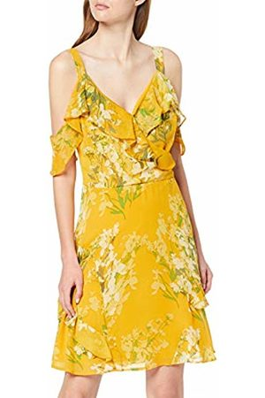 Dorothy Perkins Women's Floral Cold Shoulder Chiffon FIT and Flare Dress, (Mid 410)