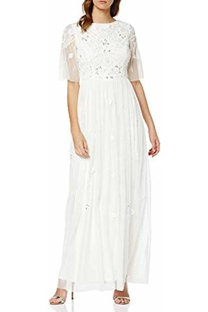 Frock and Frill Women's Crisanta Embelished Maxi Dress Party (Bright #Ffffff)