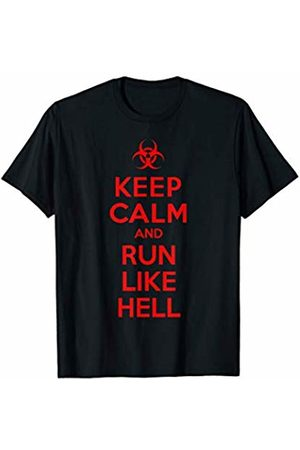 Flippin Sweet Gear Keep Calm and Run Like Hell Zombie Apocalypse T-Shirt