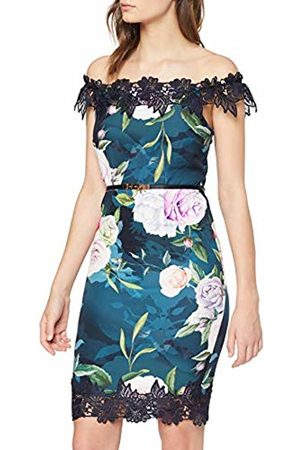 Paper Dolls Women's Floral Bardot Dress Pencil Floral Short Sleeve Dress