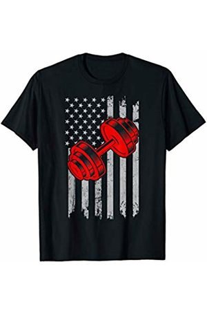 Flag Gym Store American Flag Weightlifting Training 4th of July USA Gym Fun T-Shirt