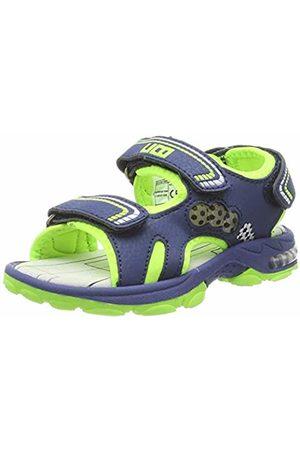 LICO Boys' Spotlight V Ankle Strap Sandals, Blau/Lemon