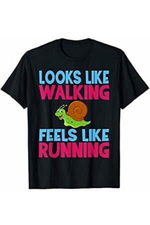 Running This Town Slow Runner Looks Like Walking Feels Like Running Snail T-Shirt