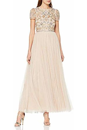 Frock and Frill Women's Chloe Embellished Maxi Dress Party (Barely #Ffb6c4)
