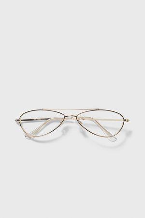 Zara Oval metal frame glasses
