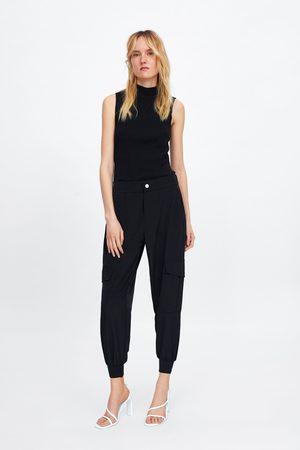 Zara Women Cargo Trousers - Cargo trousers with pockets