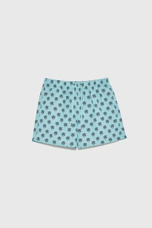 Zara Palm tree print swim shorts