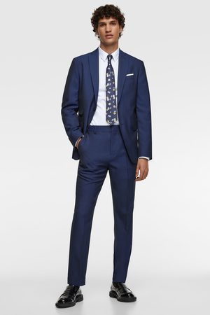 Zara Herringbone texture suit blazer