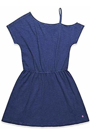 Esprit Girls Knitted Dresses - Kids Girls' Knit Dress Blau (Night 449)
