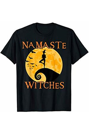 Zum2 Namaste Halloween Yoga Namaste Witches Shirt - Tree Pose - Halloween Yoga T-shirt T-Shirt