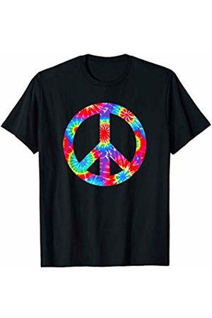 Retro Hippie Peace Apparel Tie Dye Peace Sign Design Retro Hippie 60's 70's Groovy T-Shirt