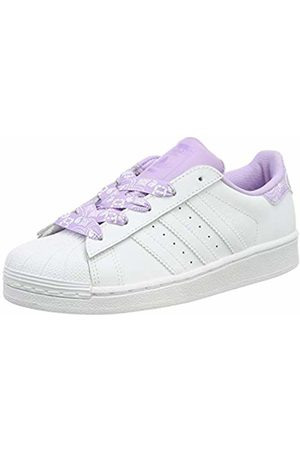 adidas Unisex Kids' Superstar C Gymnastics Shoes, FTWR / Glow