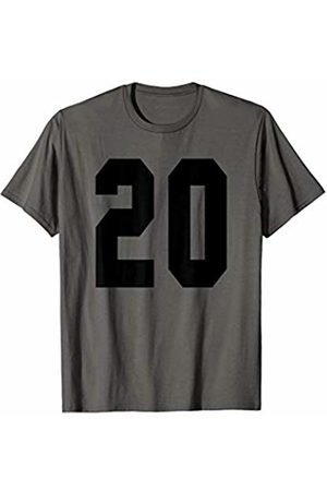 Rec League Team Sports Number T-Shirts # 20 Team Sports Jersey Front & Back Number Player Fan T-Shirt