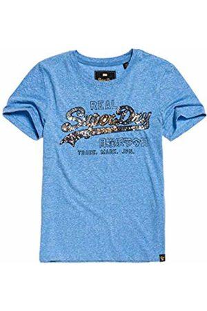 Superdry Women's Vintage Logo Carnival Sequin Entry Tee T-Shirt, (Cruz Snow L2r)