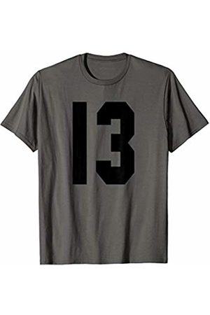 Rec League Team Sports Number T-Shirts # 13 Team Sports Jersey Front & Back Number Player Fan T-Shirt