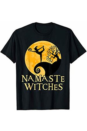 Zum2 Namaste Halloween Yoga Namaste Witches Shirt - Dancer Pose - Halloween Yoga T-shirt T-Shirt