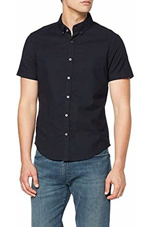 Original Penguin Men's Cotton Oxford Casual Shirt, (Dark Sapphire)